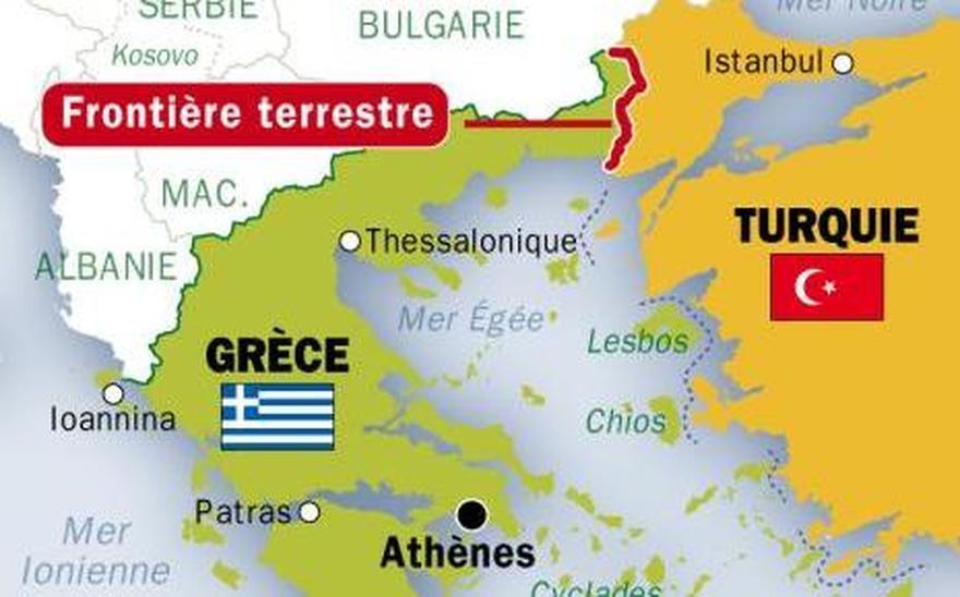 La Turquie menace les frontières grecques