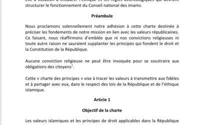La charte de principes et l'influence turque en France